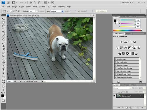 Photoshop ծրագրի տեսքը — Интерфейс