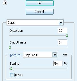 Далее: Filter-Distort-Glass (Фильтр-Деформация-Стекло).