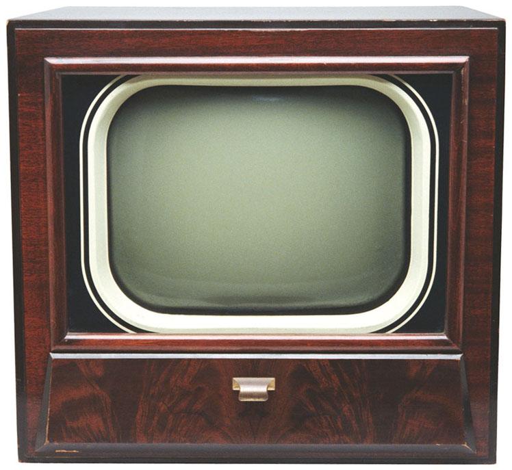 Լուսանկարների միաձուլում: Հին հեռուստացույց: