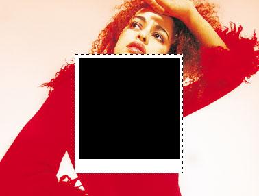 Просто рисуйте белый прямоугольник и внутри него чёрный.