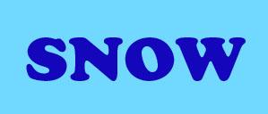 Написать синим цветом SNOW.