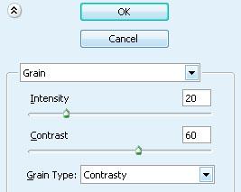 Применяем: Filter-Texture-Grain
