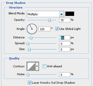 Можно дать объём буквам с помощь Drop Shadow