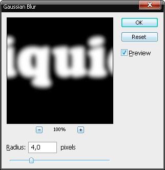 Применить Filter-Blur-Gausian Blur (Размытие по Гаусу).